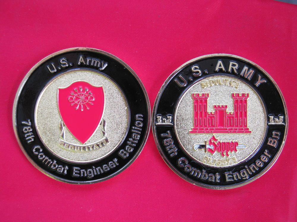 combat engineer challenge coin  diameter  oldies challenge coins challenges coins