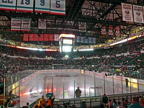 Inside View Of Nassau Veterans Memorial Coliseum Home Of The New York Islanders Uniondale Ny New York Islanders Veterans Memorial Sports Arena