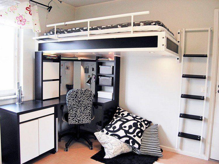 leiter zum hochbett an der wand befestigt m bel pinterest hochbetten leiter und w nde. Black Bedroom Furniture Sets. Home Design Ideas