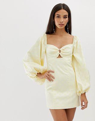 35552cb9f9 C Meo Collective elate longsleeve mini dress