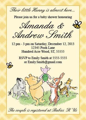 Classic winnie the pooh baby shower invitation by littleforests classic winnie the pooh baby shower invitation by littleforests filmwisefo