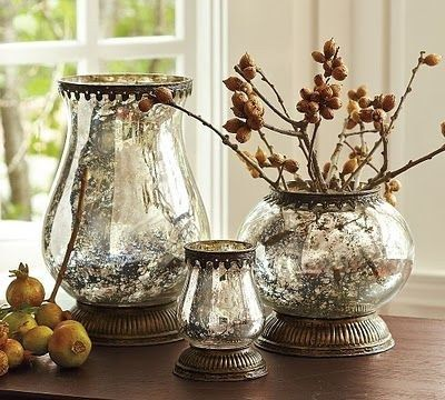 Make Your Vases And Lamps Look Like Mercury Glass By Spritzing With