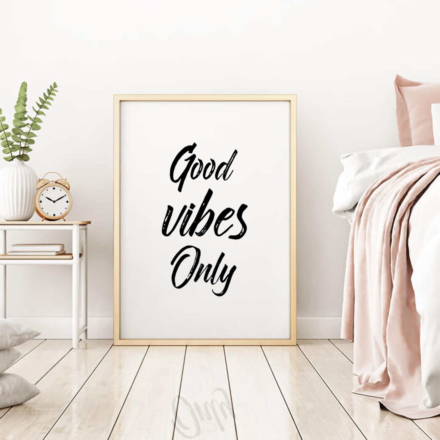 Office Decor Digital Download Motivational Poster Good Vibes Only Inspirational Art Print Sign Printable Wall Art Quotes Positivity Sign Wall Printables Printable Decor Wall Decor Bedroom