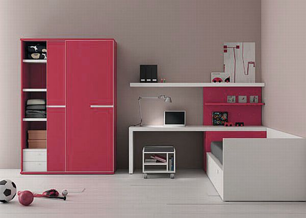 interesting kids room furniture design with pink closet simple white desk and bed for kids