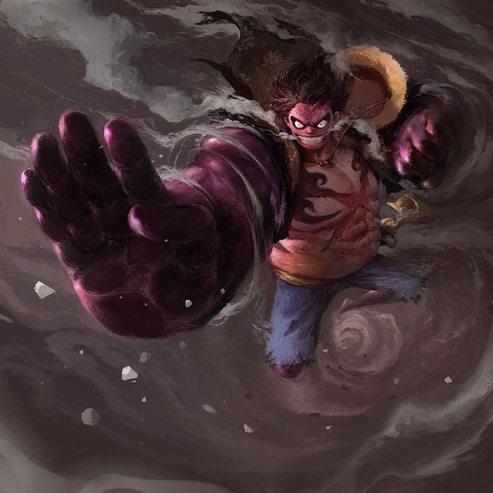 One Piece Fan Art Luffy Gear 4th By Le Vuong