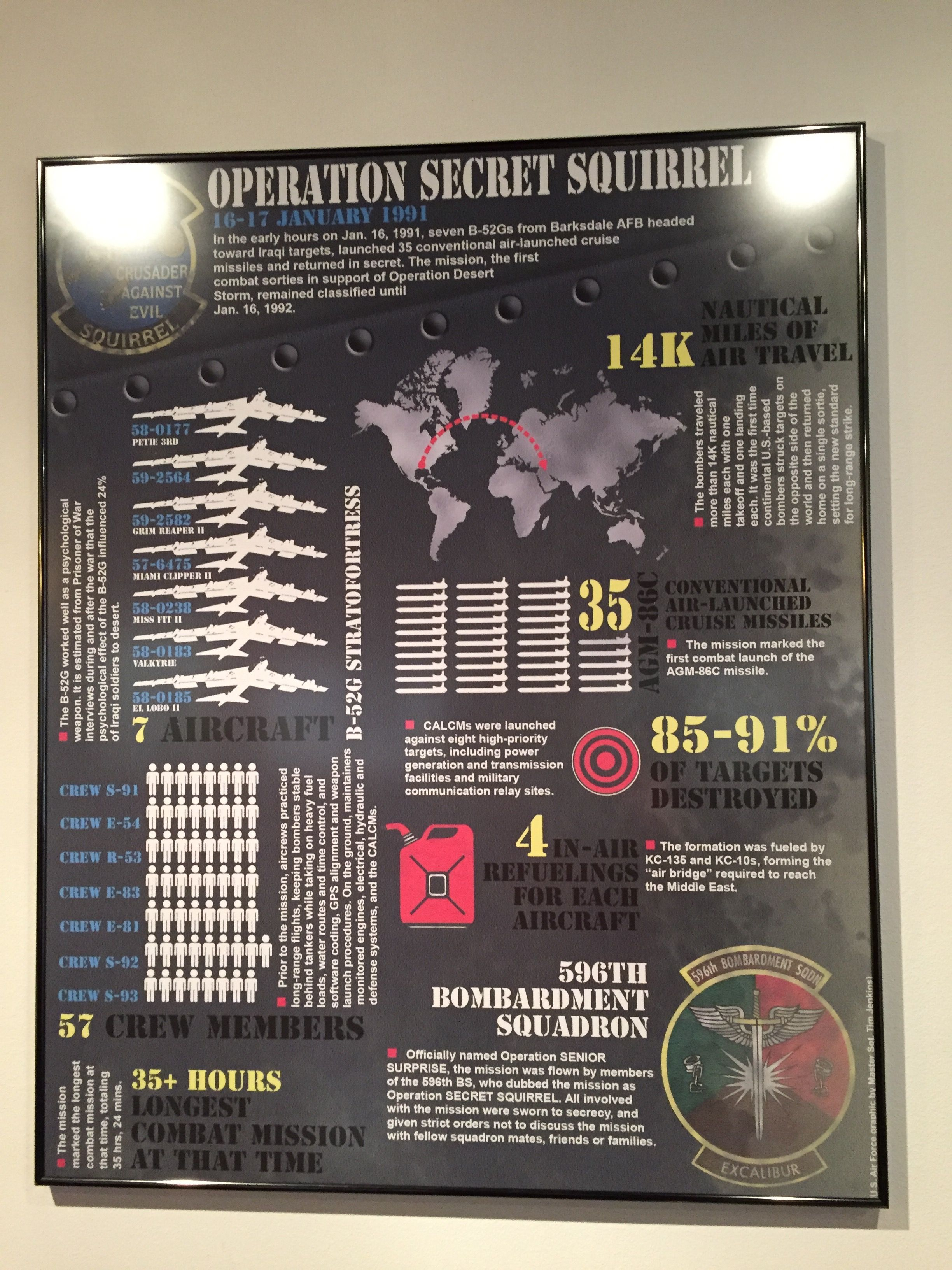 Operation Secret Squirrel infographic poster at the Global