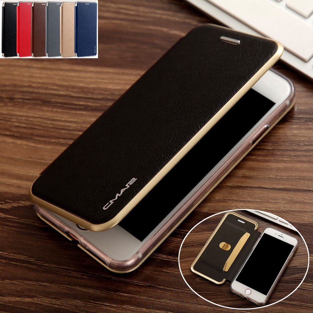 For iphone x 8 7 6 plus luxury leather wallet card slim