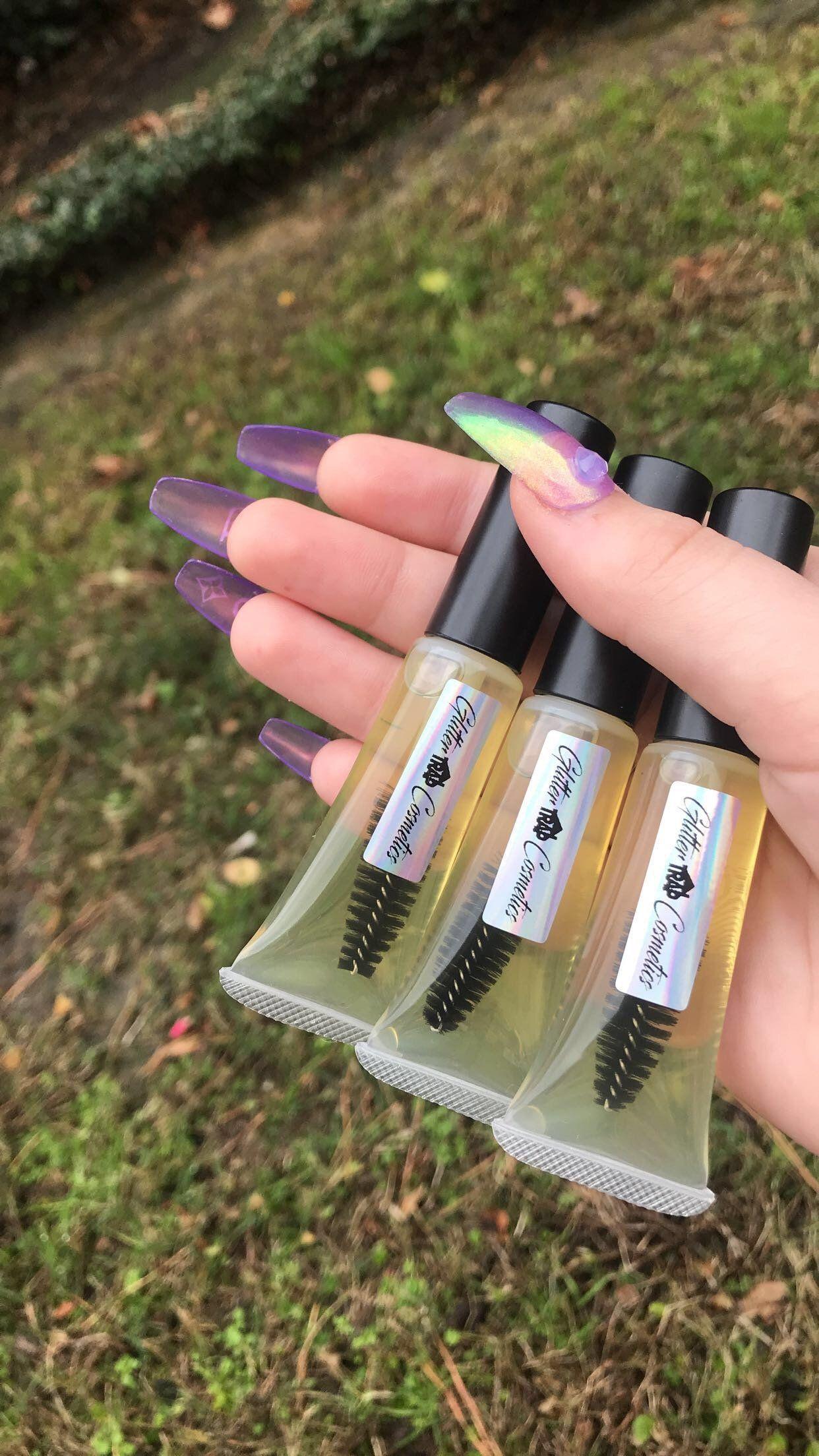 Eyelash eybrow growth serum glitter trap cosmetics