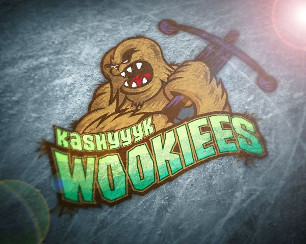 Star Wars based sports logo the Kashyyyk Wookiees produced for Rink Gear (www.rinkgear.com)