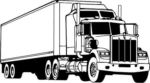 Semi Truck | stencil y plantillas | Pinterest | Dibujos, Piojos y ...