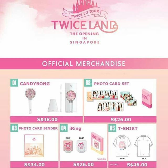 Twice 1ST Tour TwiceLand Opening in Singapore 29 April 2017