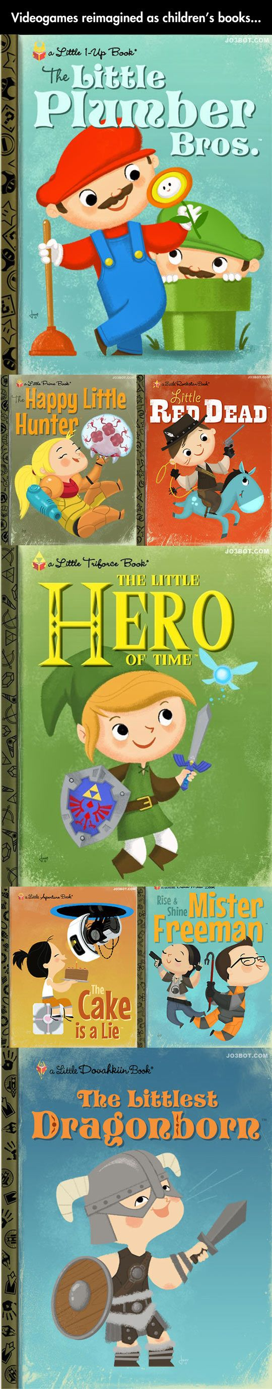 Video Games Reimagined as Classic Children's Books by Joey Spiotto...