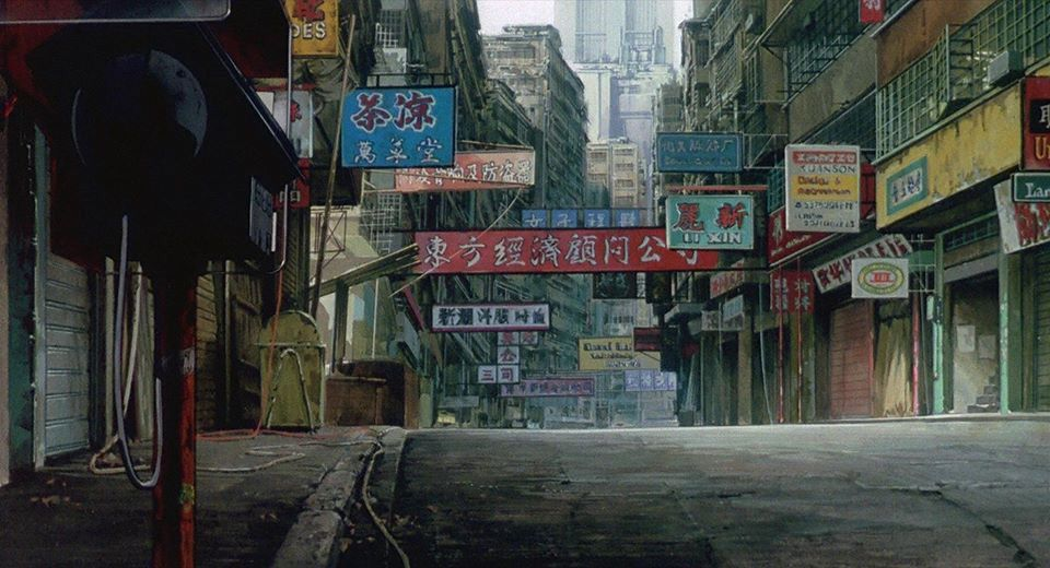 Background Ghost In The Shell 1995 Hong Kong Inspiration Ghost In The Shell Anime Background Cyberpunk City
