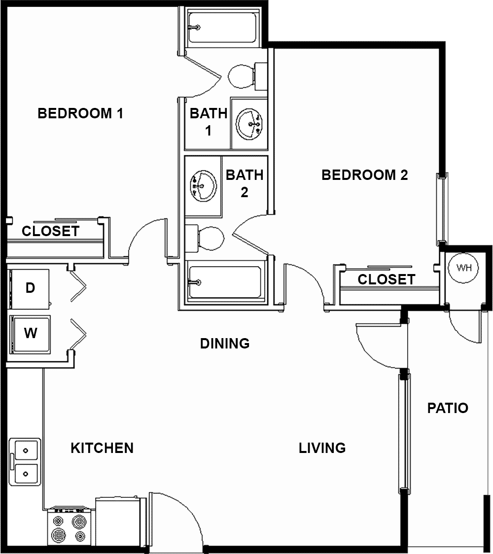 2 bedroom apartment | Garage plans, 2 bedroom apartment ...