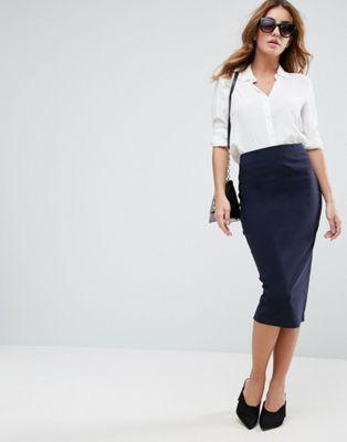 Длинная юбка-карандаш ASOS