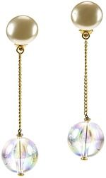 Pre-owned: Chanel Lucite Ball Pearl Drop Earrings