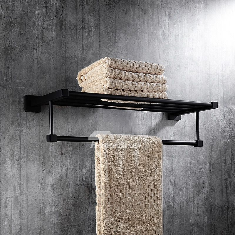 Solid Oil Rubbed Bronze Towel Rack Shelf Black Bathroom In 2018
