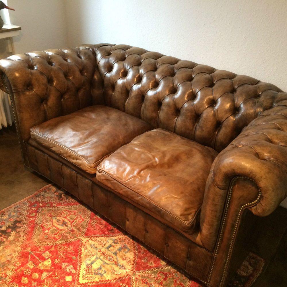 details zu chesterfield 3er 2er sofa sessel hocker gr n leder englisch loungesofa couch sandra. Black Bedroom Furniture Sets. Home Design Ideas