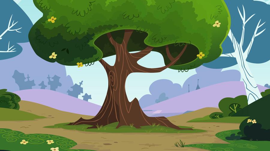 The Park Tree By Cloudshadezer0 On Deviantart Cartoon Background Animation Background Wallpaper Backgrounds