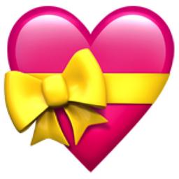 The Heart With Ribbon Emoji On Iemoji Com Significado Dos Coracoes Coracao Do Whatsapp Papel De Parede Emoji