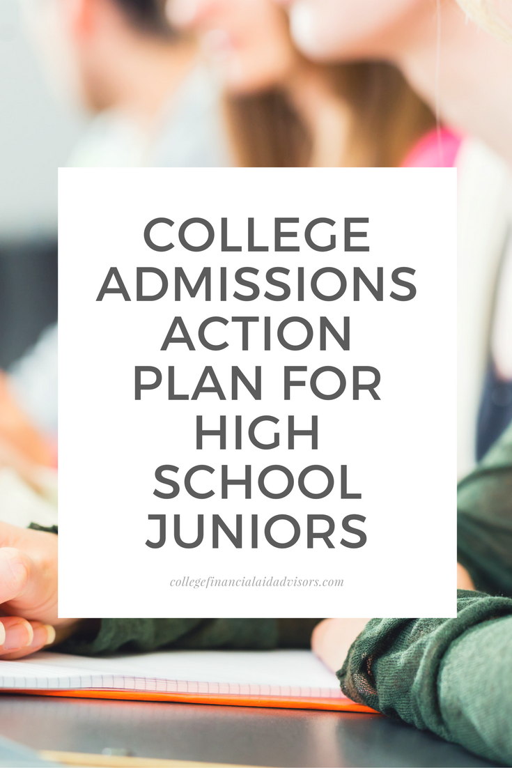 College Admissions Action Plan for High School Juniors