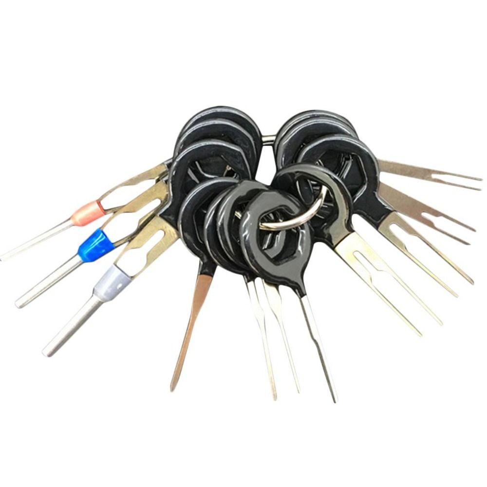 11pcs/set Auto Car Plug Terminal Extraction Pick Back Needle Wire ...