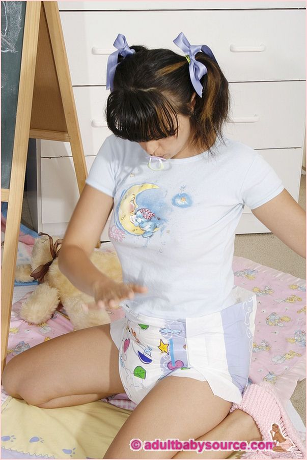 Adults playing in diapers