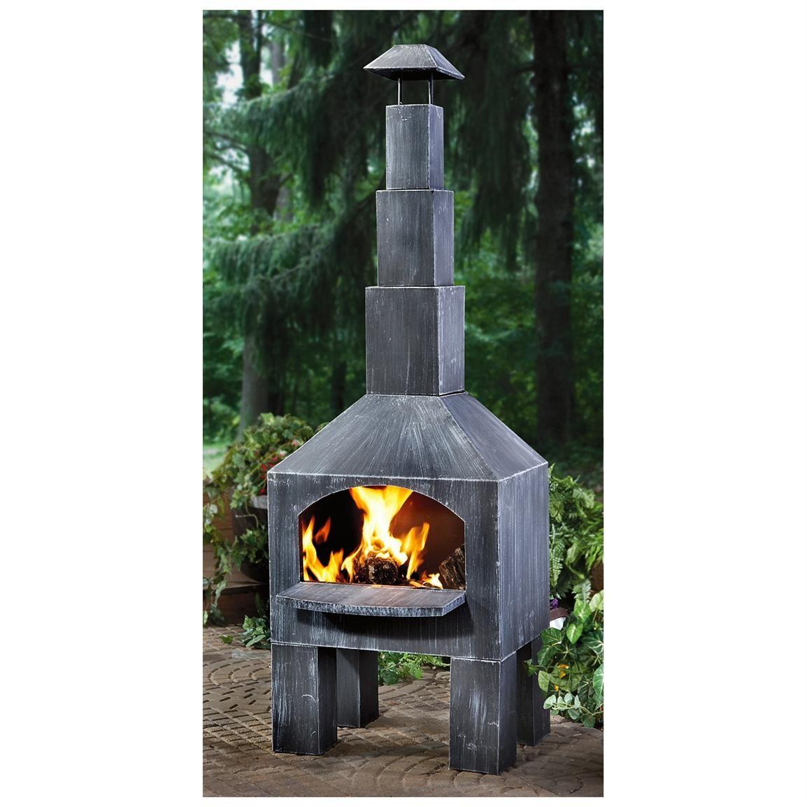 CASTLECREEK Outdoor Cooking Steel Chiminea