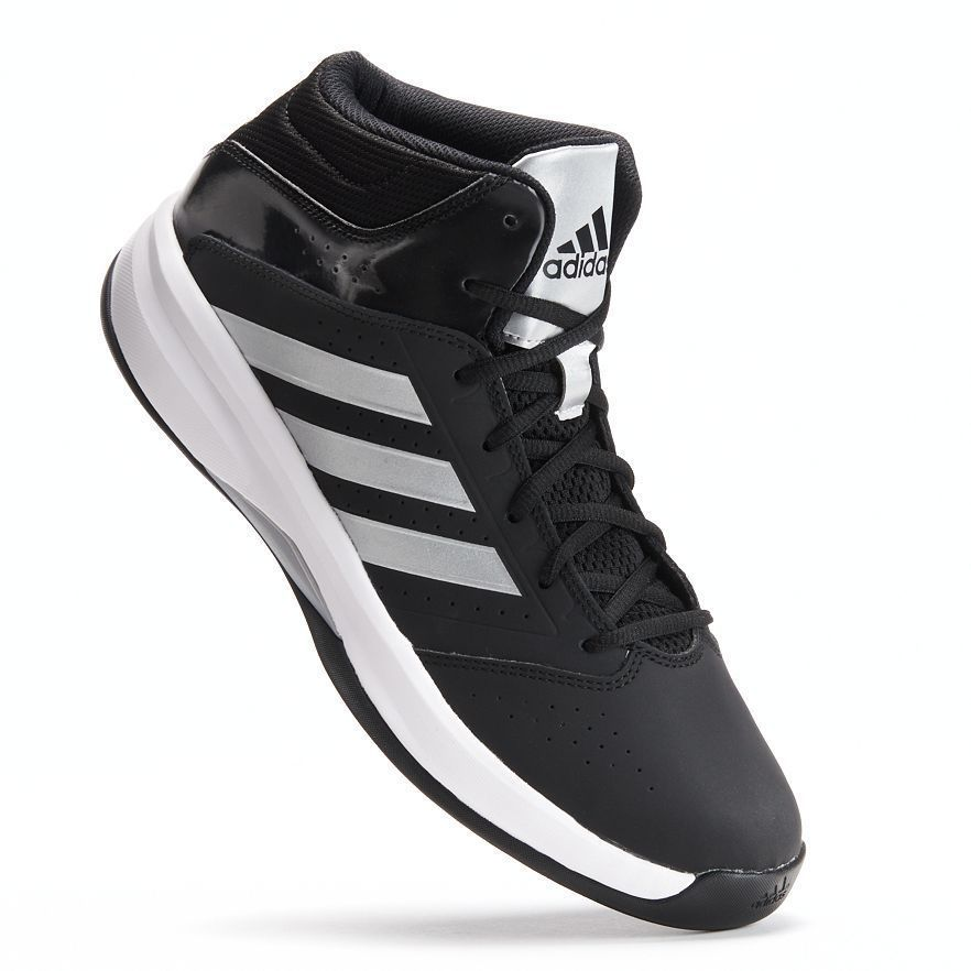 Adidas Basketball shoe Isolation 2 leather black/silver/white men's size  7.5 NEW