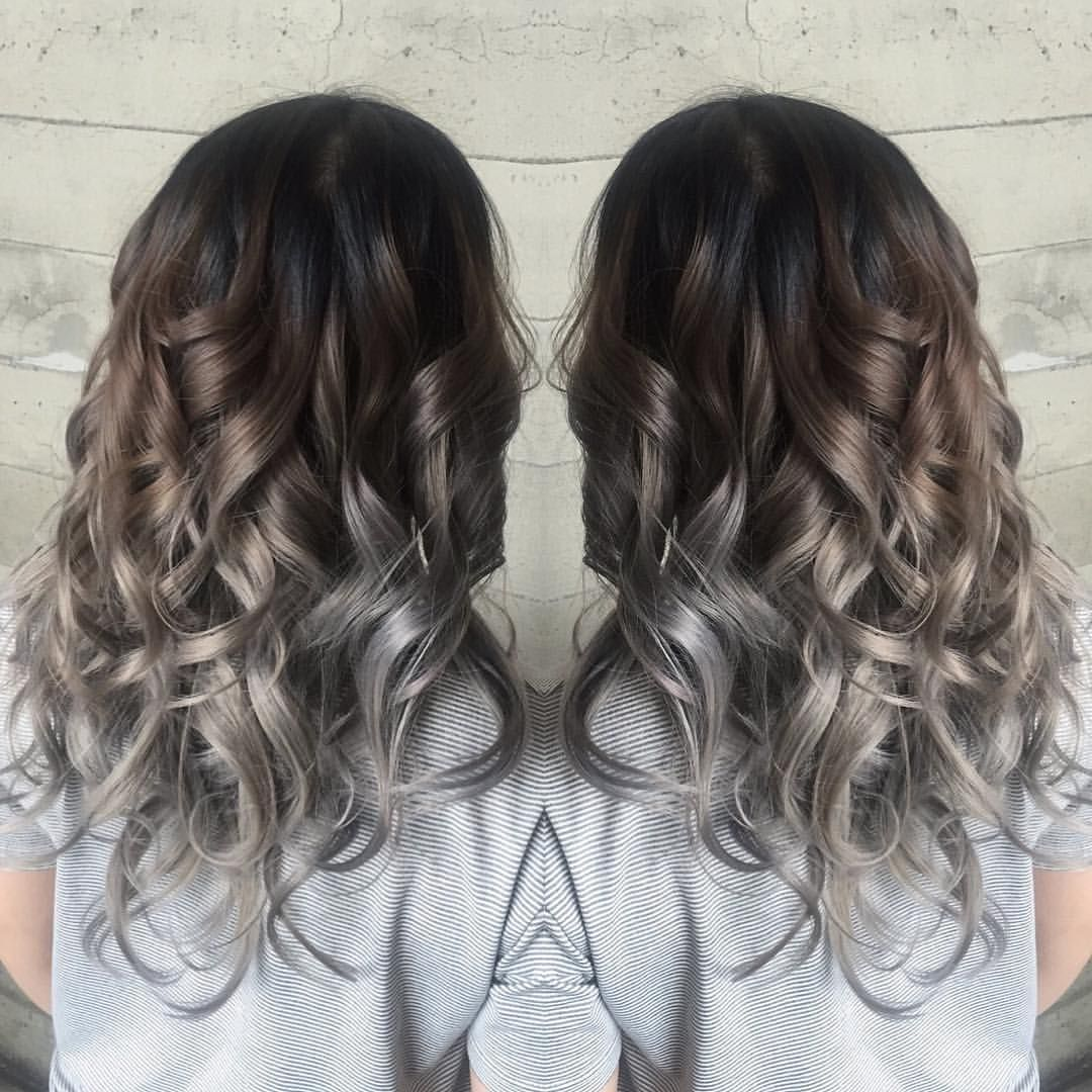 Butterfly Loft Salon On Instagram Warm Tones Blending Into Cool Tones By Butterfly Loft Stylist Van Curly Hair Styles Curly Silver Hair Colored Curly Hair