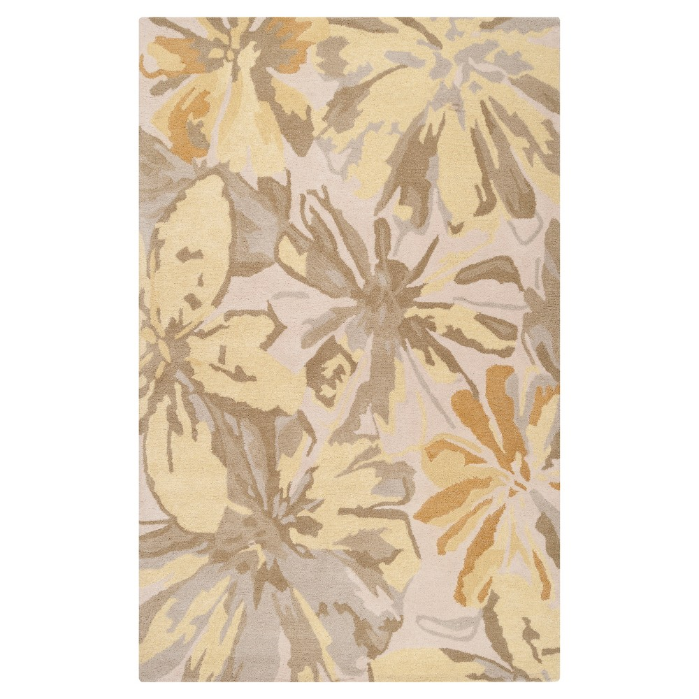 Amaranthus Area Rug - Lime (Green), Butter - (6' x 9') - Surya