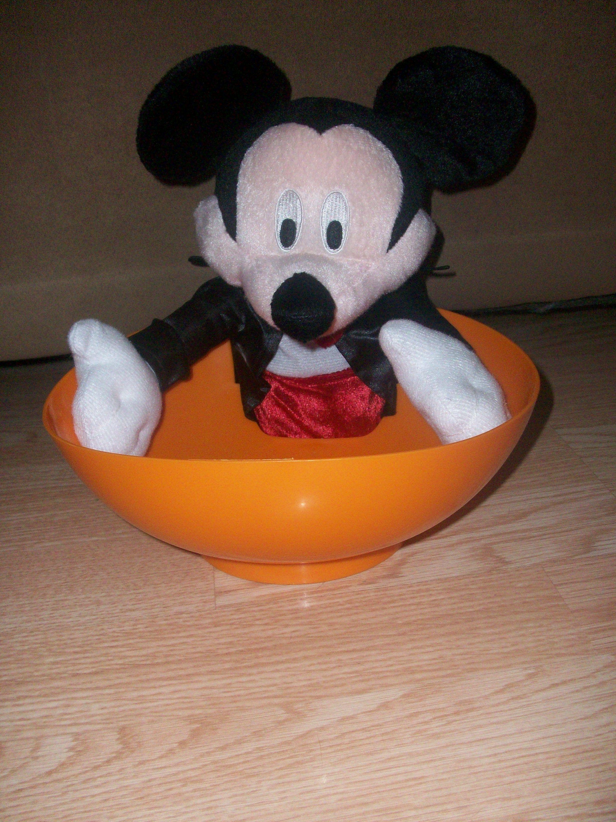 Halloween Animated, Mickey candy dish Mickey halloween