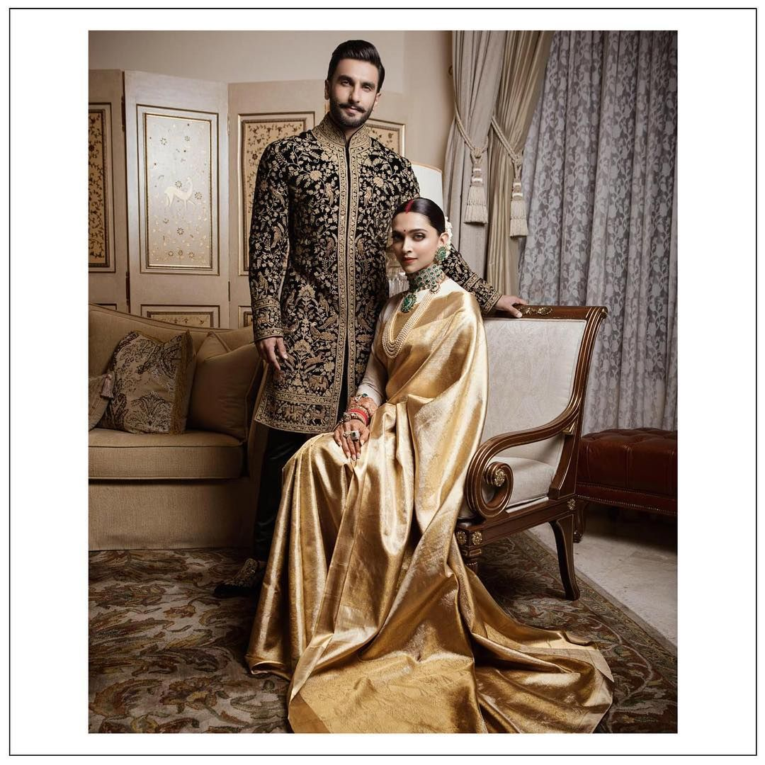 Deepika Padukone Ranveer Singh Bengaluru Reception Inside Pics And Menu Details Everything You Need To Know Groom Outfit Indian Bridal Indian Wedding Dress