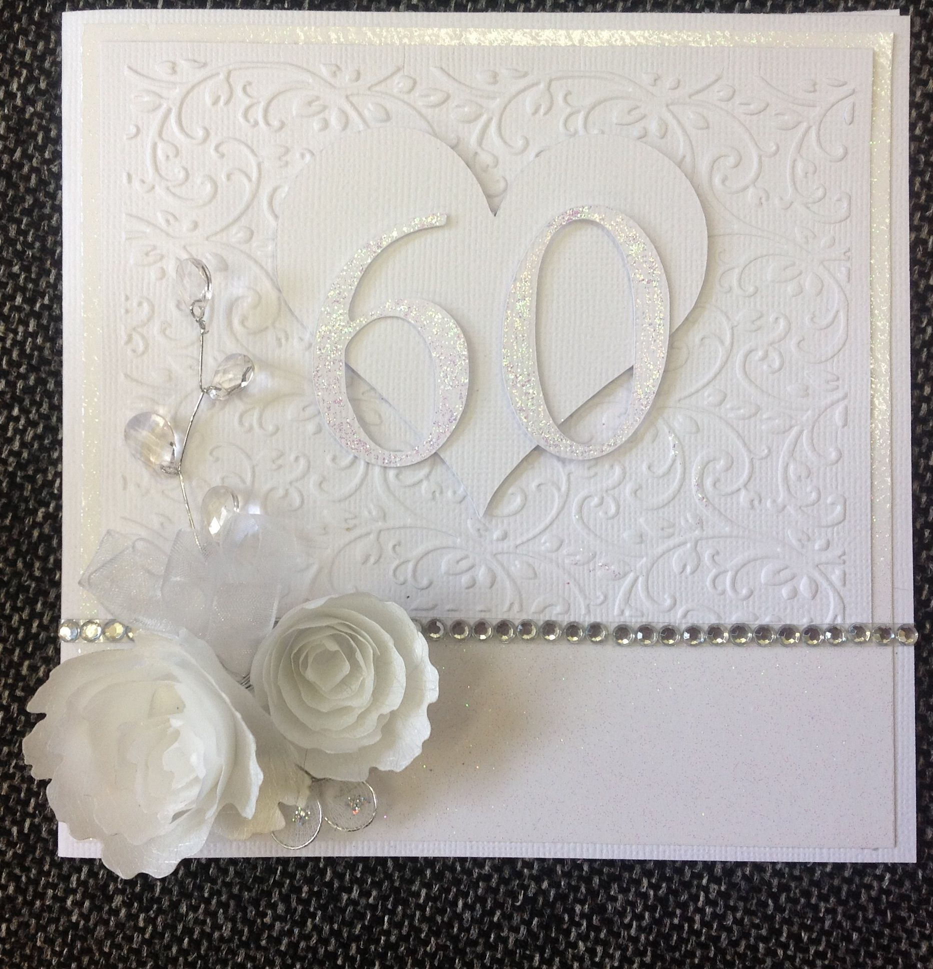 60th Wedding Anniversary Card Diamond Wedding Anniversary