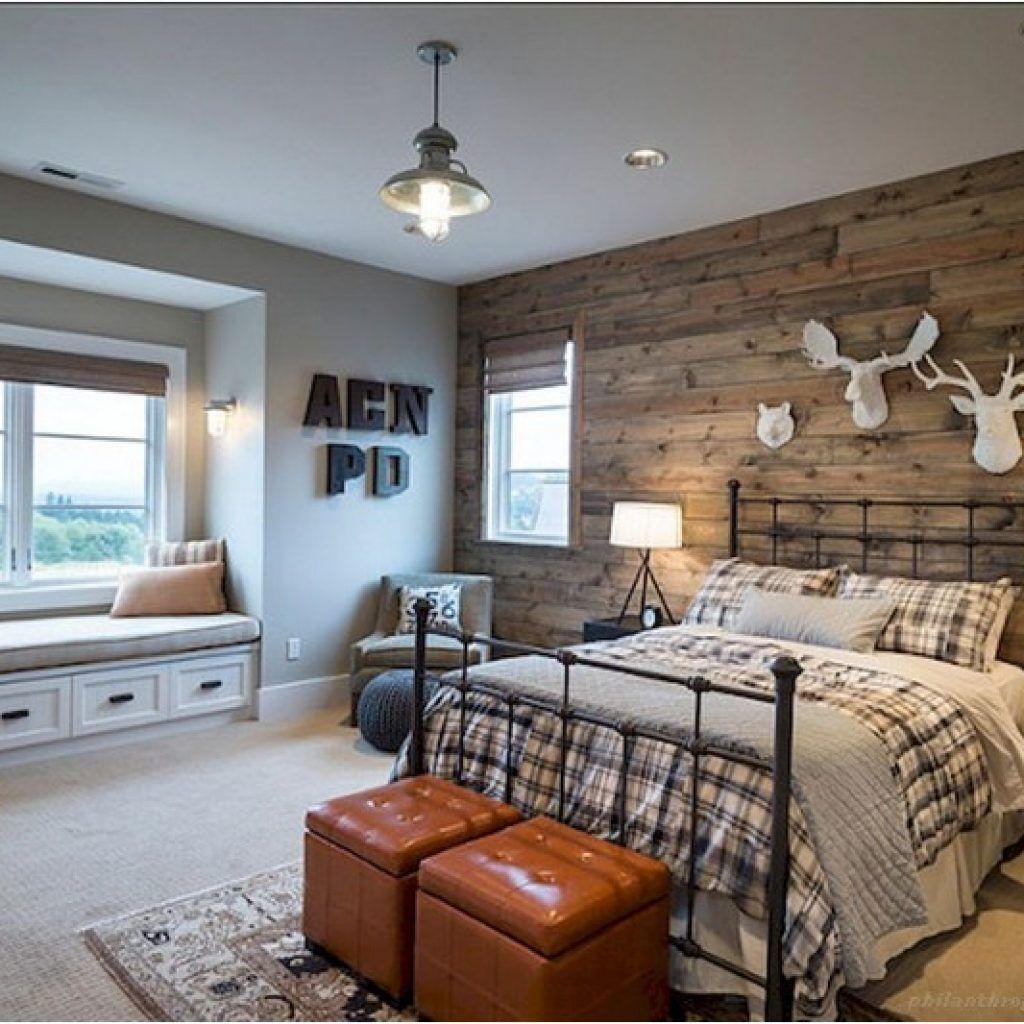 60+ Rustic Farmhouse Style Master Bedroom Ideas