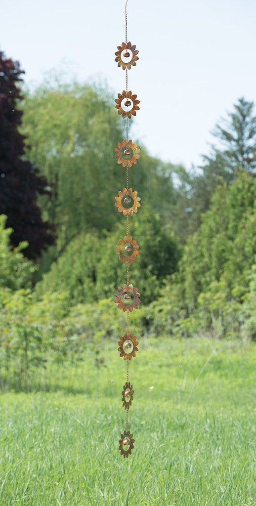 Flower Rain Chain - Happy Gardens