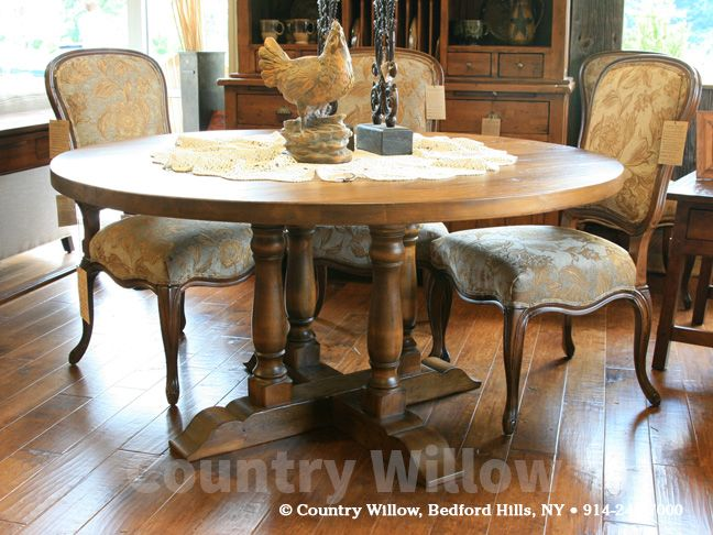 4 Leg Pedestal Farm Table