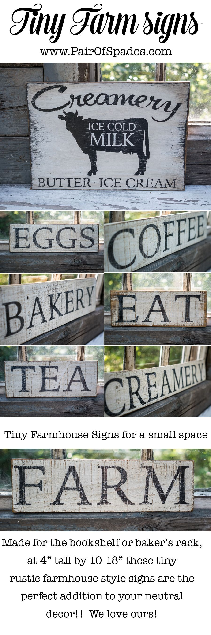 Rustic Farmhouse Signs Super vintage looking and