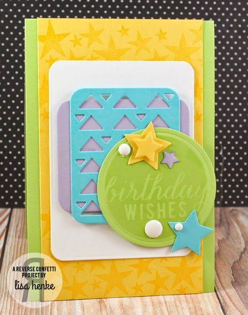Reverse Confetti | Roundabout | Roundabout Additions | Birthday Card | Pretty Panels, Oh My Stars, Documented, So Many Stars