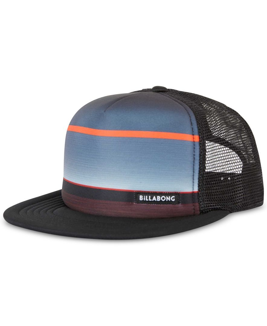 90d88aa005268 Billabong Men s Lo Tides Mesh-Back Striped Cap