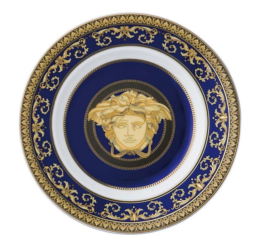 Versace Dinnerware Set-Blue Medusa | Dinnerware | Pinterest