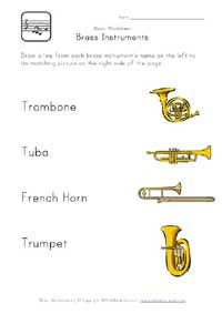 brass instruments worksheet music ed resources pinterest brass instrument instruments and. Black Bedroom Furniture Sets. Home Design Ideas