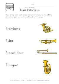 brass instruments worksheet | Music worksheets, Music ...