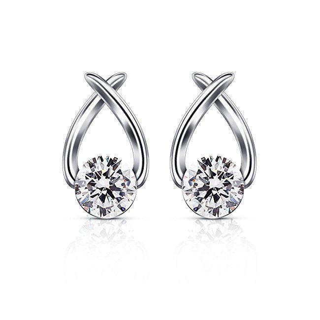 B.Catcher Stud Earrings Cubic Zirconia 925 Sterling Silver Cute Fish Earring Studs Women Jewellery Gifts 6BWrU9G4