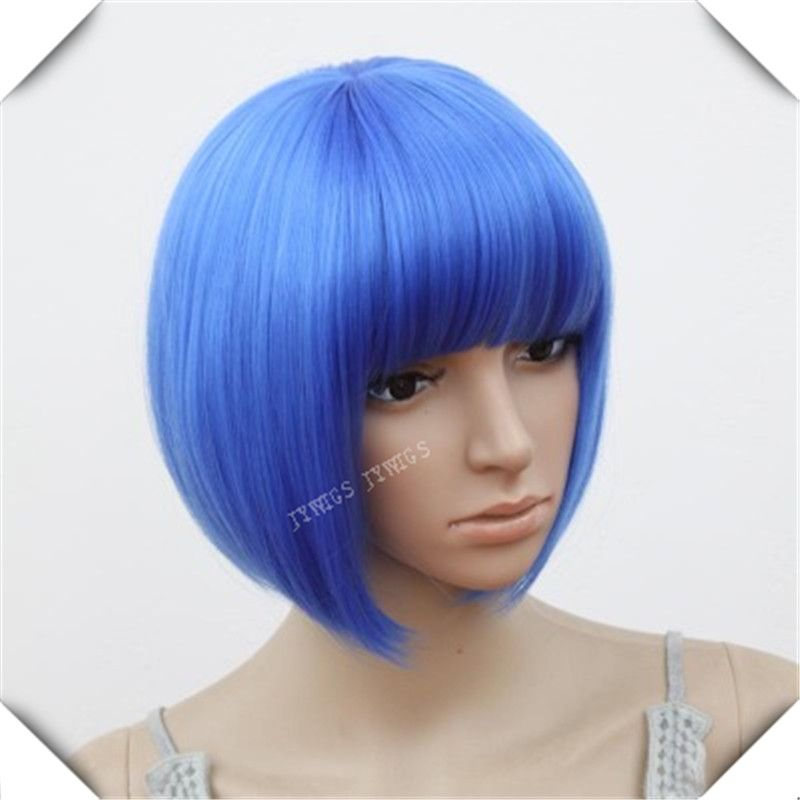 $9.60 (Buy here: http://appdeal.ru/6pbc ) Dark Blue Hair Women Short Bob Perucas Wavy Cosplay Sexy Party Hairstyle Wigs Dark Blue Hair for just $9.60