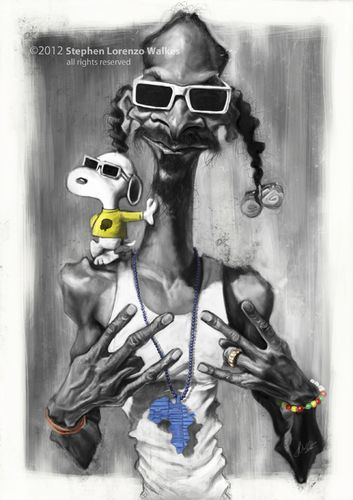 Snoop Dogg & Snoopy #Caricature #FunnyFaces New Hip Hop Beats Uploaded EVERY…