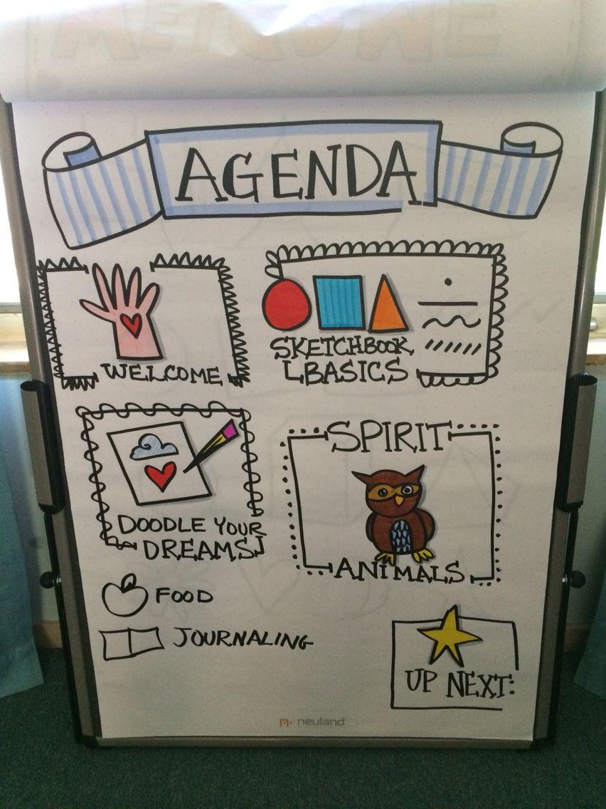 Agenda Design - Artwork by: Diane Bleck of The Doodle Institute ...