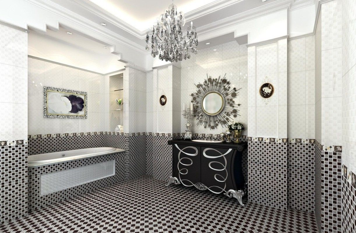 black and white mosaic tile | ... Touch with Black and White ...