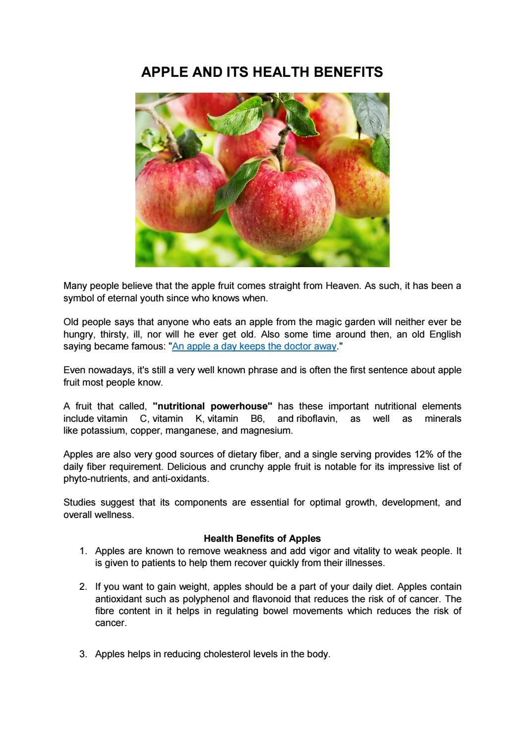 An Apple A Day Keeps The Doctor Away Organic Fruit And Apples