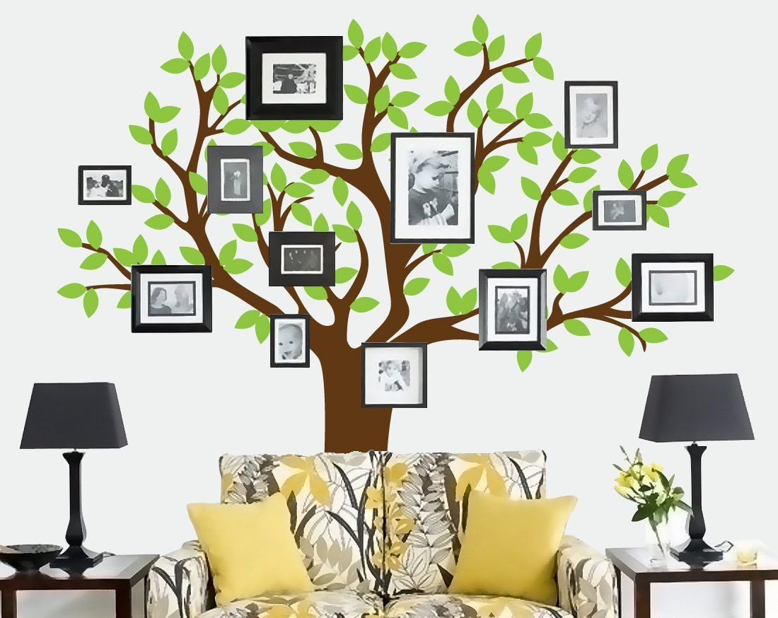 furniture modern tree wall decal in black bedroom design ideas built in headboard with nightstands